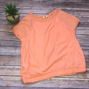 🎄Part of 3 for 35 Moth Anthropologie Orange Tee
